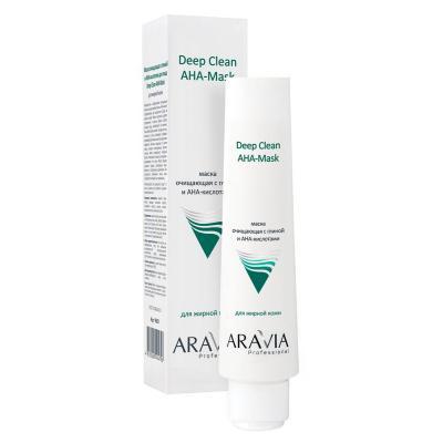 ARAVIA Professional Маска очищающая с глиной и AHA-кислотами Deep Clean AHA-Mask, 100мл