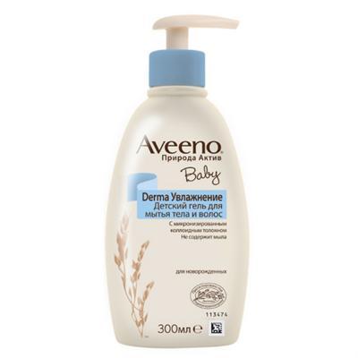 AVEENO Baby Derma Увлажнение Детский гель для мытья тела и волос, 300 мл