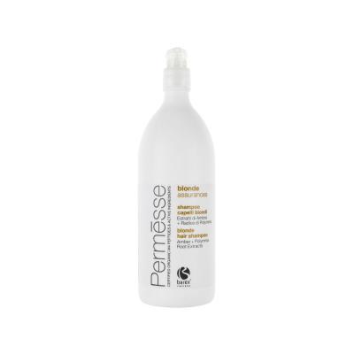 Barex Permesse Blonde Hair Shampoo / Шампунь для осветлённых волос с экстрактом янтаря и корня Полимнии, 1000 мл