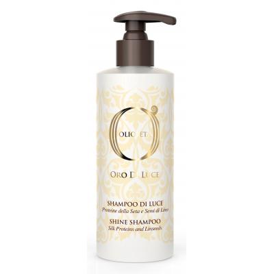 Barex OLS Shine shampoo / Шампунь-блеск с протеинами шелка и семенем льна, 750 мл