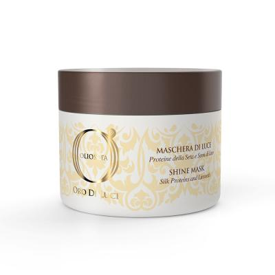 Barex OLS Shine mask / Маска-блеск с протеинами шелка и семенем льна, 200 мл