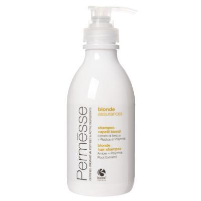 Barex Permesse Blonde Hair Shampoo / Шампунь для осветлённых волос с экстрактом янтаря и корня Полимнии, 250 мл