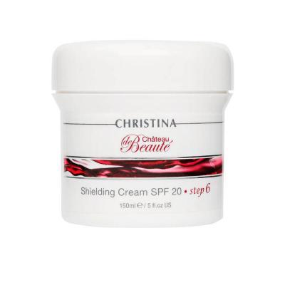 Chateau de Beaute Shielding Cream SPF 20-шаг6:Защитный крем SPF 20, 150мл