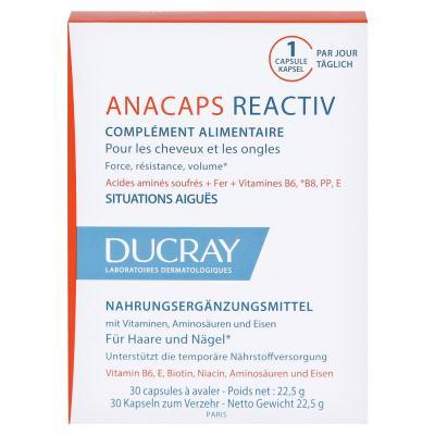 ANAKAPS Reactiv (АНАКАПС РЕАКТИВ), Биологически активная добавка к пище для волос и кожи головы, 30 капс.