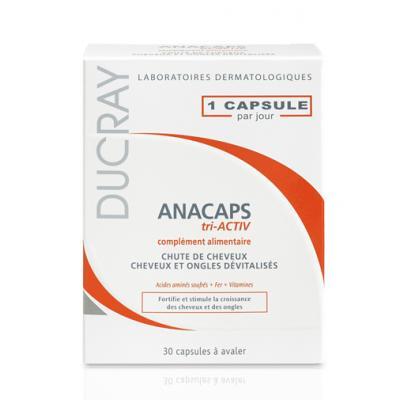 ANAKAPS Tri-activ (АНАКАПС ТРИАКТИВ), Биологически активная добавка к пище для волос и кожи головы, 30 капс.