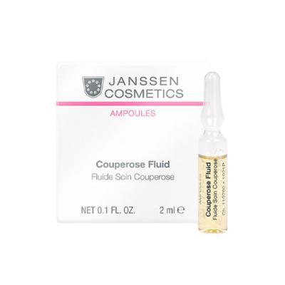 Couperose Fluid, Сосудоукрепляющий концентрат для кожи с куперозом (в ампулах), 3 х 2 мл.
