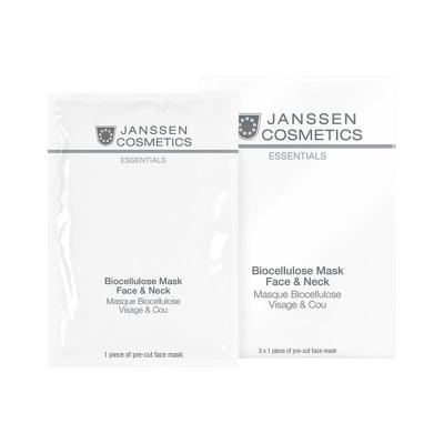 Biocellulose Mask Face Neck / Универсальная интенсивно увлажняющая лифтинг-маска для лица и шеи с голубикой, 1 упаковка