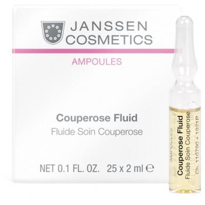 Couperose Fluid, Сосудоукрепляющий концентрат для кожи с куперозом (цена за шт), 25 х 2 мл.