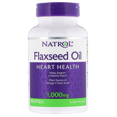 FlaxSeed Oil (Льняное масло) 1000 mg, 90 Capsules