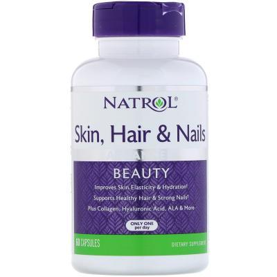 Natrol Skin Hair Nails (Кожа, волосы и ногти), 60 Capsules