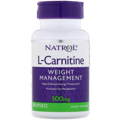 L-Carnitine (L-Карнитин) 500 mg, 30 Capsules