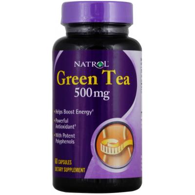 Green Tea (Экстракт Зеленого чая), 500 mg, 60 Capsules
