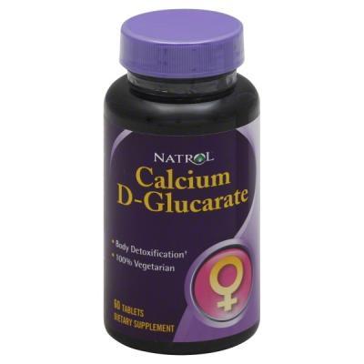 Calcium D-Glucarate (D-глюкарат Кальция), 250 mg, 60 Tablets