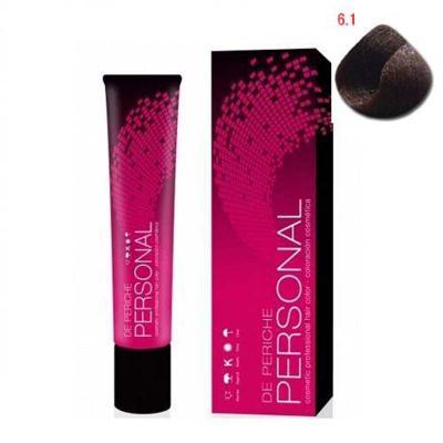 Periche Стойкий краситель для волос Personal 6.1 Темно-русый пепельный, 60 мл