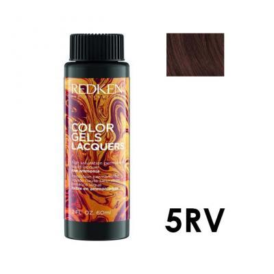 Color Gels Lacquers 5RV / Перманентный краситель-лак тон 5RV, 3*60мл