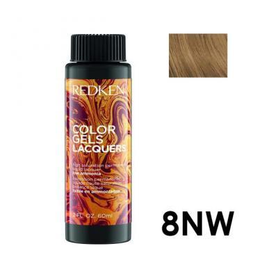 Color Gels Lacquers 8NW / Перманентный краситель-лак тон 8NW, 3*60мл