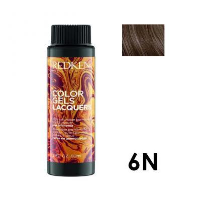 Color Gels Lacquers 6N / Перманентный краситель-лак тон 6N, 3*60мл