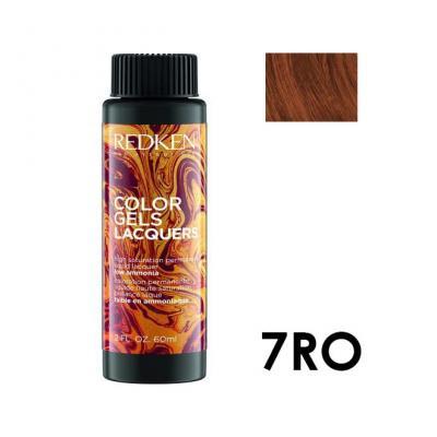 Color Gels Lacquers 7RO / Перманентный краситель-лак тон 7RO, 3*60мл