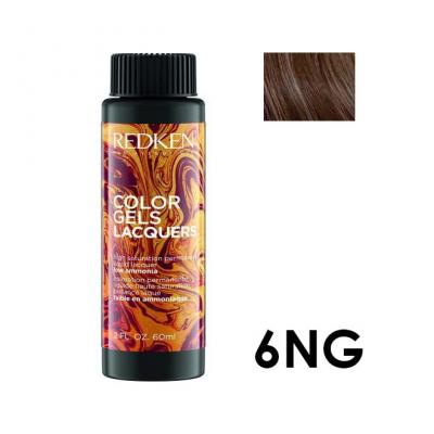 Color Gels Lacquers 6NG / Перманентный краситель-лак тон 6NG, 3*60мл