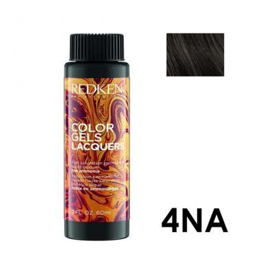 Color Gels Lacquers 4NA / Перманентный краситель-лак тон 4NA, 3*60мл