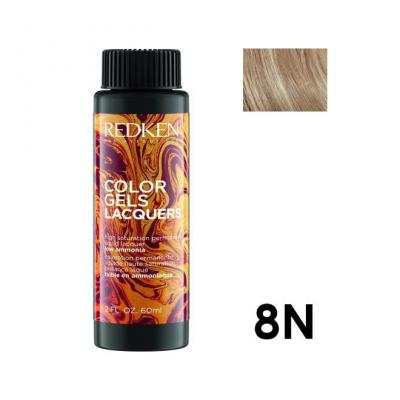 Color Gels Lacquers 8N / Перманентный краситель-лак тон 8N, 3*60мл