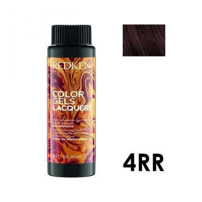 Color Gels Lacquers 4RR / Перманентный краситель-лак тон 4RR, 3*60мл