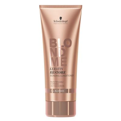 BlondMe Keratin Restore Bonding Conditioner / Бондинг-кондиционер кератиновое восстановление для волос блонд, 200 мл