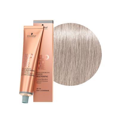 BlondMe White Blending Ice / Осветляющий крем для седых волос Лёд, 60 мл