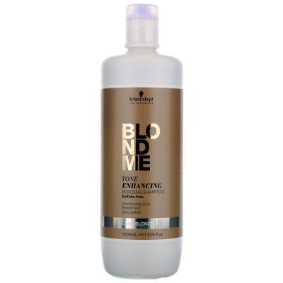 BlondMe Tone Enhancing Bonding Shampoo Cool / Бондинг-шампунь для поддержания холодных оттенков блонд, 1000 мл