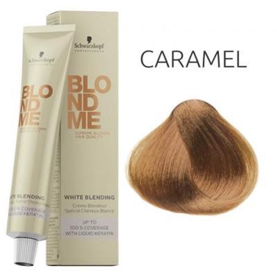 BlondMe White Blending Caramel / Осветляющий крем для седых волос Карамель, 60 мл