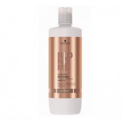 BlondMe Keratin Restore Bonding Shampoo All Blondes / Бондинг-шампунь кератиновое восстановление для волос блонд, 1000 мл