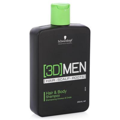 3D MEN Hair&Body Shampoo / Шампунь для волос и тела, 250 мл