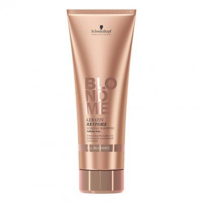 BlondMe Keratin Restore Bonding Shampoo All Blondes / Бондинг-шампунь кератиновое восстановление для волос блонд, 250 мл