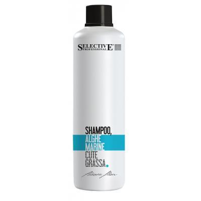 Alghe Marine Shampoo Шампунь Морские Водоросли для кожи головы с повышенной секрецией сальных желез и волос всех типов, 1000 мл.