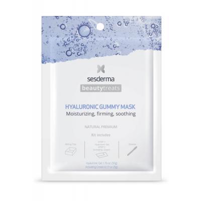 BEAUTYTREATS Hyaluronic gummy mask – Маска увлажняющая для лица, 1 шт