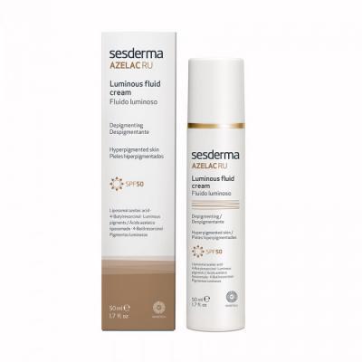 AZELAC RU Luminous Fluid Cream SPF50 - Эмульсия для сияния кожи СЗФ50, 50 мл