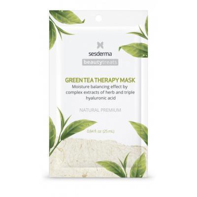 BEAUTYTREATS Green tea therapy mask – Маска увлажняющая для лица, 1 шт
