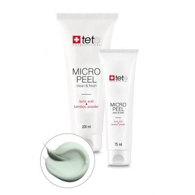 Мягкий эксфолиант с молочной/гликолевой кислотами и бамбуковой пудрой / Micro Peel, 75 мл